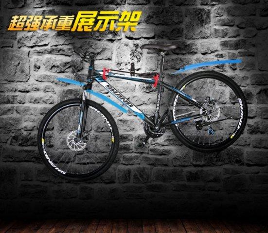 《意生》2016加強V型款自行車壁掛架承重40KG適用任何車種 壁掛式展示架掛壁式壁掛式展示架掛車架牆壁掛鉤掛鉤掛架