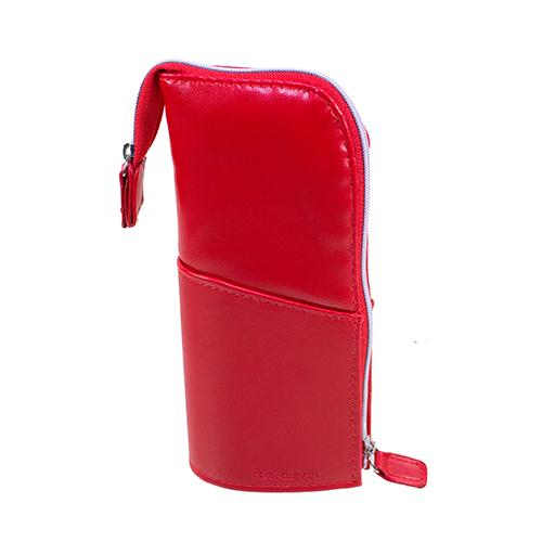 【KOKUYO】  多功能PU直立式筆袋(紅色) PC006-RS