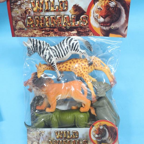 動物模型 仿真動物 仿真叢林野生動物模型 軟質空心(袋裝.混款)/一袋5隻入{促199}生7-005AB