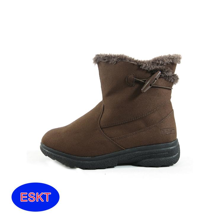 ESKT 兒童雪鞋SN205C/城市綠洲(雪靴 防潑水 防雪 刷毛 麂皮 冰爪)