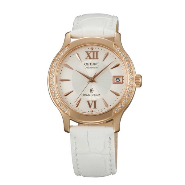 Orient 東方錶(FER2E002W)優雅鑲鑽機械錶/白面36mm