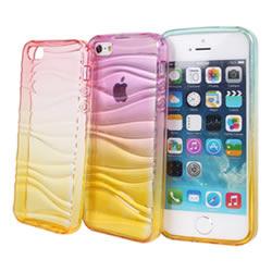 Ultimate- iPhone SE / 5 /5S 漸層透彩軟質手機外殼防摔抗震後背蓋保護殼 清水套 透明殼 透明軟殼