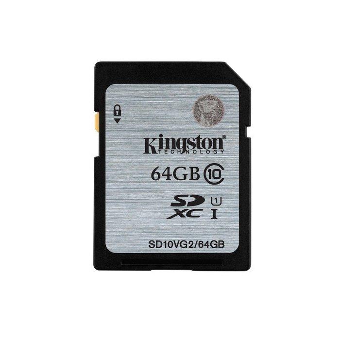 *╯新風尚潮流╭*金士頓記憶卡 64G 64GB SDXC C10 UHS-I U1 SD10VG2/64GB