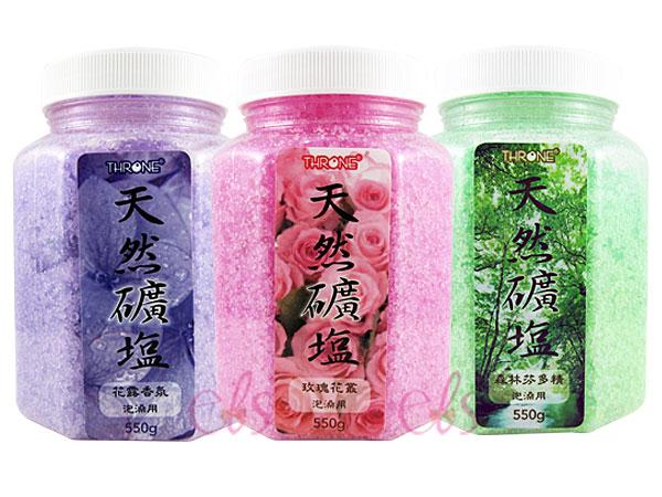 斯儂恩 天然礦鹽 玫瑰花叢/森林芬多精/花露香氛 550g 三款供選 ☆艾莉莎ELS☆