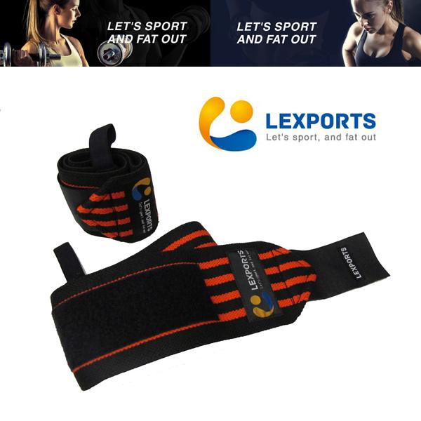 LEXPORTS 勵動風潮 / E-Power 腕部支撐帶 (高重磅彈力型) 熱情紅 L50cm / 健身輔助帶 / 防護腕部傷害