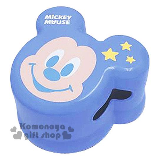 〔小禮堂〕迪士尼 米奇 日製兒童造型浴室椅《小.藍.大臉.星星.簍空》衛浴專用