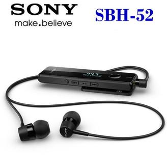 【拆封新品】SONY SBH-52 / SBH52 (黑色)原廠藍芽耳機☆NFC配對☆雙待機-內建FM~防潑水