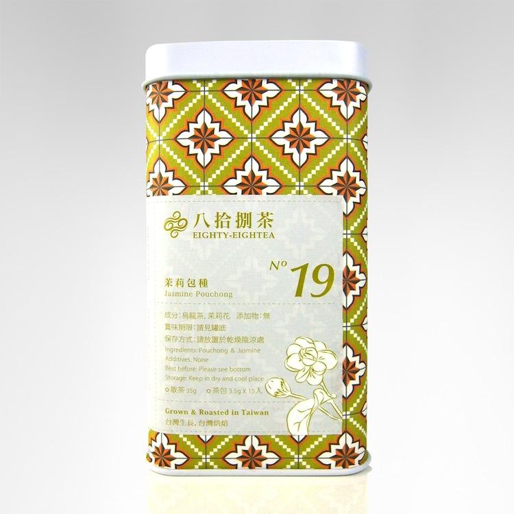 【八拾捌茶 窨製花茶】茉莉包種 35g