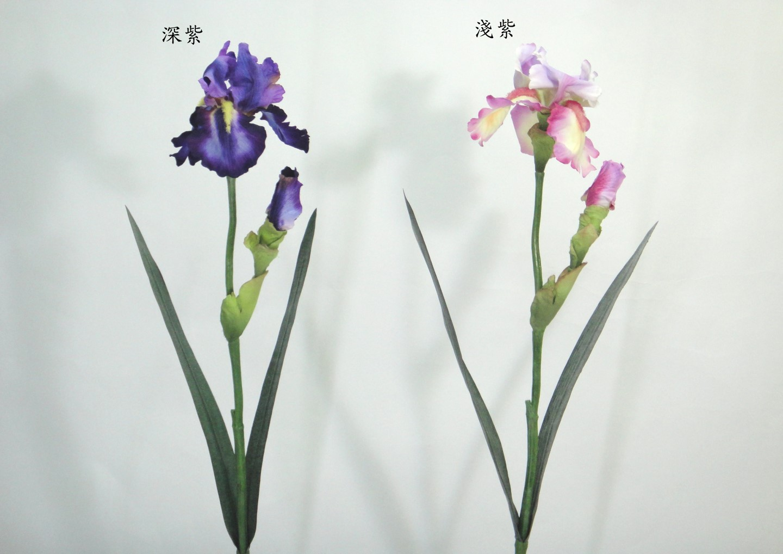 28吋 1花1苞鳶尾花 / 人造花 空間 景觀 佈置 造景