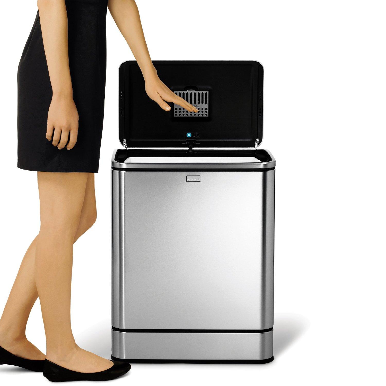 精品 不銹鋼 感應式 垃圾桶 simplehuman Touch-free 40公升