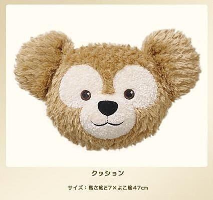 【真愛日本】14082700016 經典頭型立體抱枕-達菲大臉 Duffy 達菲熊&ShellieMay 靠枕 娃娃 日本帶回