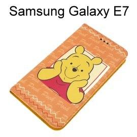 迪士尼彩繪皮套 [Hello小熊維尼] Samsung E7000 Galaxy E7【Disney正版授權】
