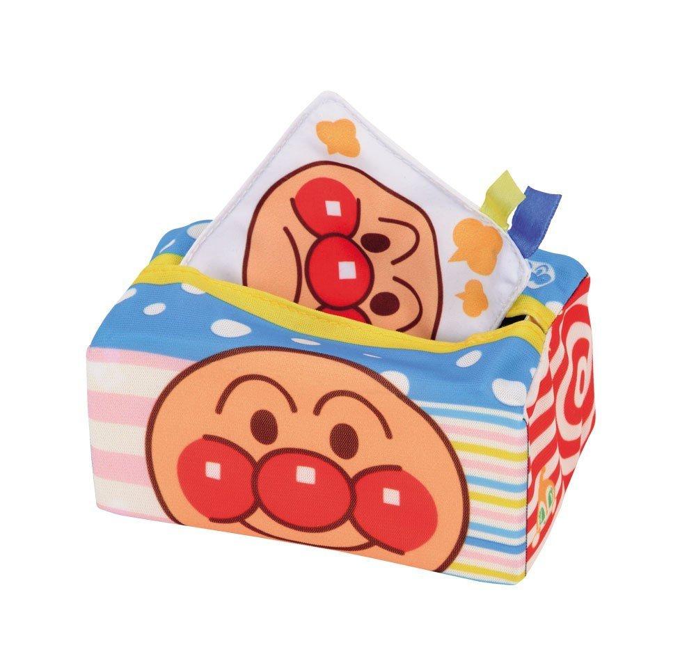 『日本代購品』麵包超人布質抽面紙玩具 益智玩具
