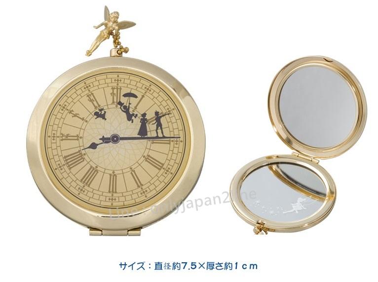 【真愛日本】12/1販售-樂園限定懷錶造型隨身鏡  迪士尼 樂園限定 小精靈  小飛俠 彼得潘   預購