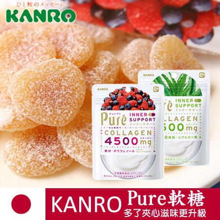 日本新口味 KANRO 甘樂 Pure軟糖 63g 莓果 蘆薈 優格 夾心軟糖【N101485】