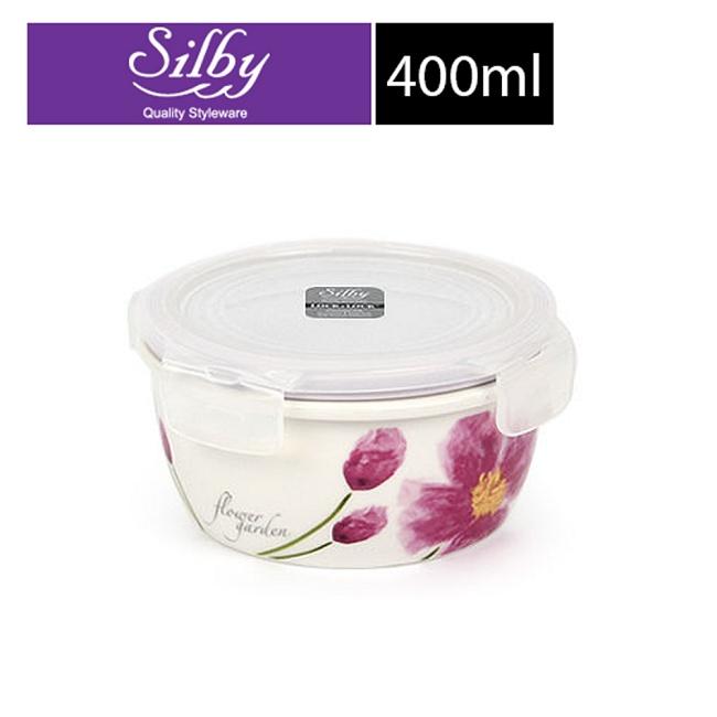【樂扣樂扣】Silby典雅陶瓷保鮮盒/400ML(四瓣花)