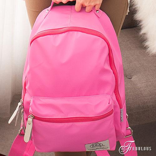 寶貝窩 Pleasant【CE1062】休閒運動風簡約車縫素面輕巧透氣糖果手提後背包