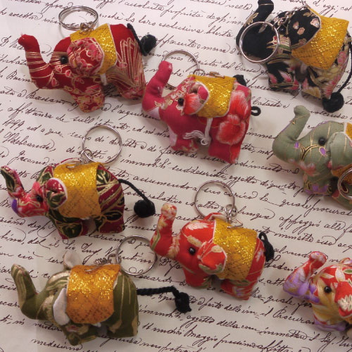 吊飾-泰國直送療癒系吉祥彩色花花大象吊飾鑰匙圈.寶貝窩 .【HT5402】