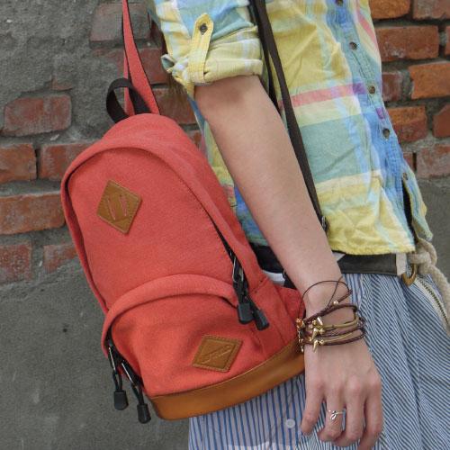 後背包-美式復刻帆布簡約獨特單肩設計豬鼻子斜背包 後背包.寶貝窩.【MA2573】