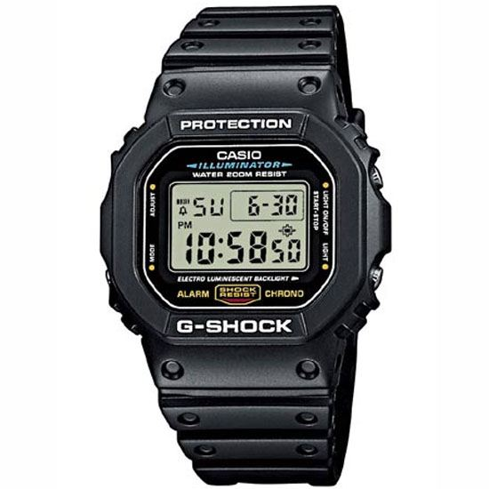 CASIO G-SHOCK DW-5600E-1VDF簡約流行數位腕錶/42.8mm