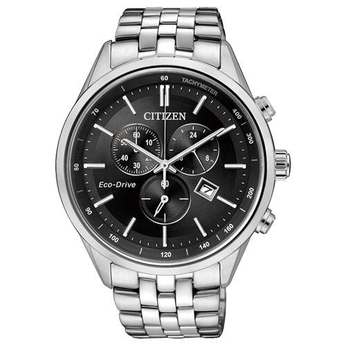 CITIZEN星辰AT2140-55E商務型男光動能計時腕錶/黑面42mm