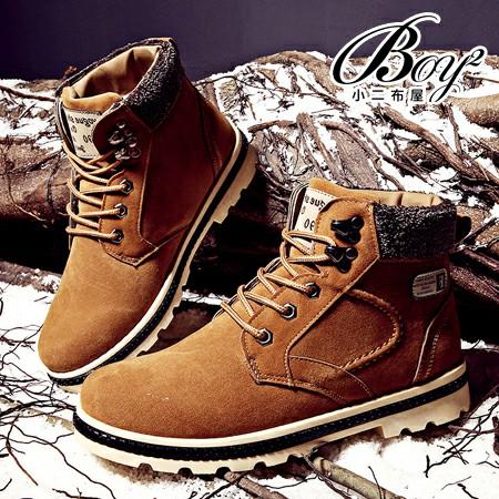 ☆BOY-2☆【JP99054】男雪靴  個性拼貼保暖鋪毛低統靴麂皮男靴