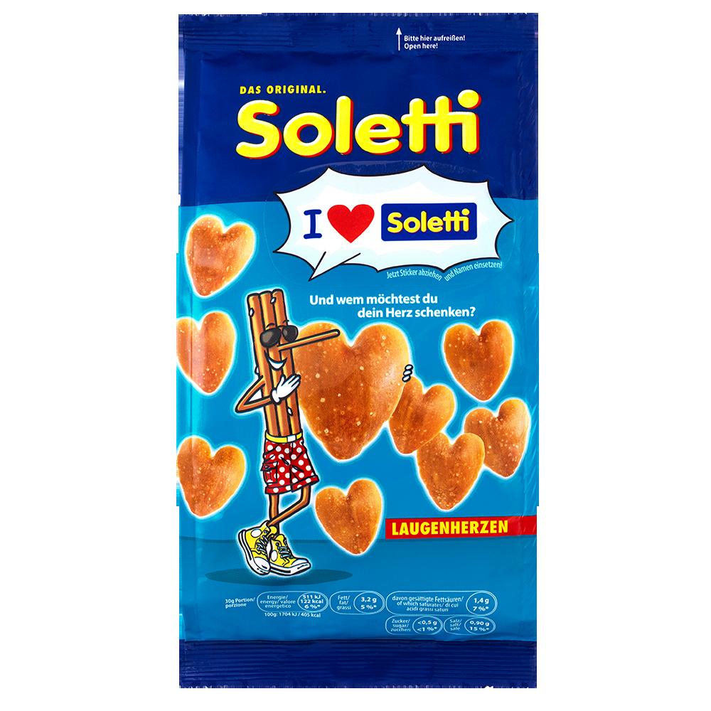 奧地利進口 Soletti 愛心造型椒鹽餅100g
