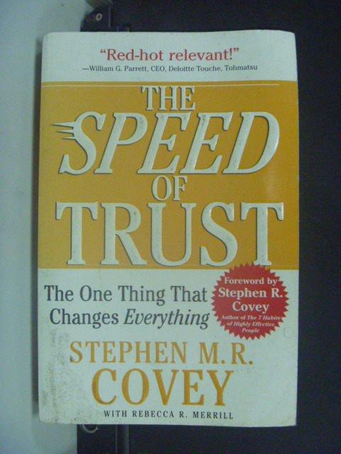 【書寶二手書T5/財經企管_GJN】The Speed of Trust_M.R. Covey, Stephen