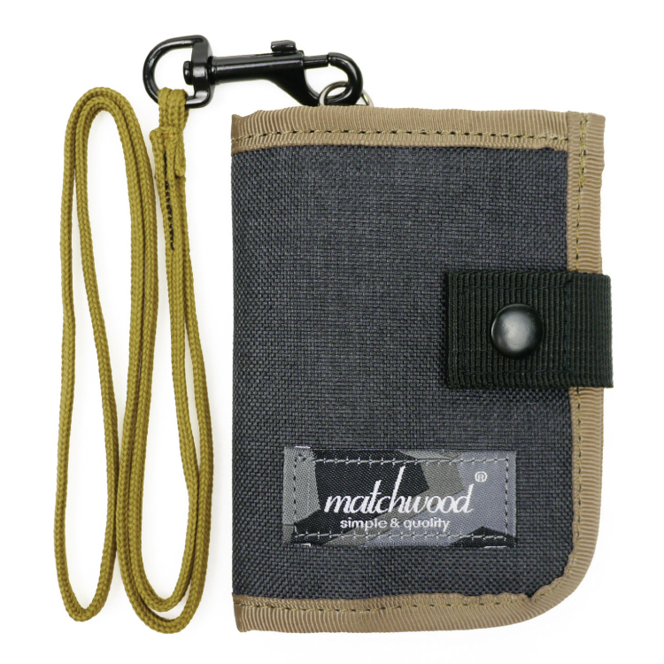 REMATCH - Matchwood Element 多功能零錢包 太空黑卡其款 頸掛包 鑰匙包 信用卡夾 證件套 悠遊卡套 錢包 卡夾 STUSSY / Herschel / master-piece / HEADPORTER 可參考