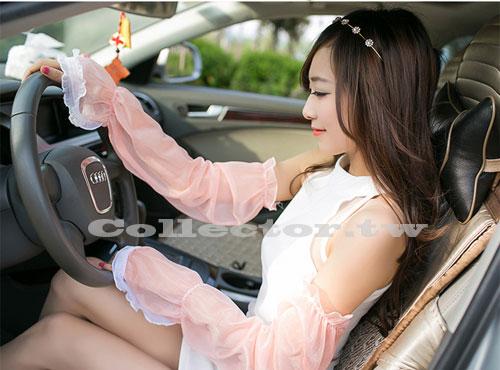 【C14062601】夏季長薄款女用防紫外線蕾絲手套 防滑防曬袖套 防曬手套 開車手套
