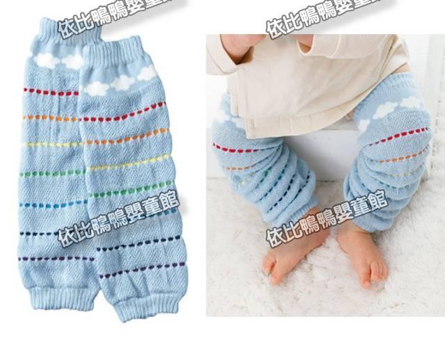 A005日單藍色雲朵圖案襪套薄款
