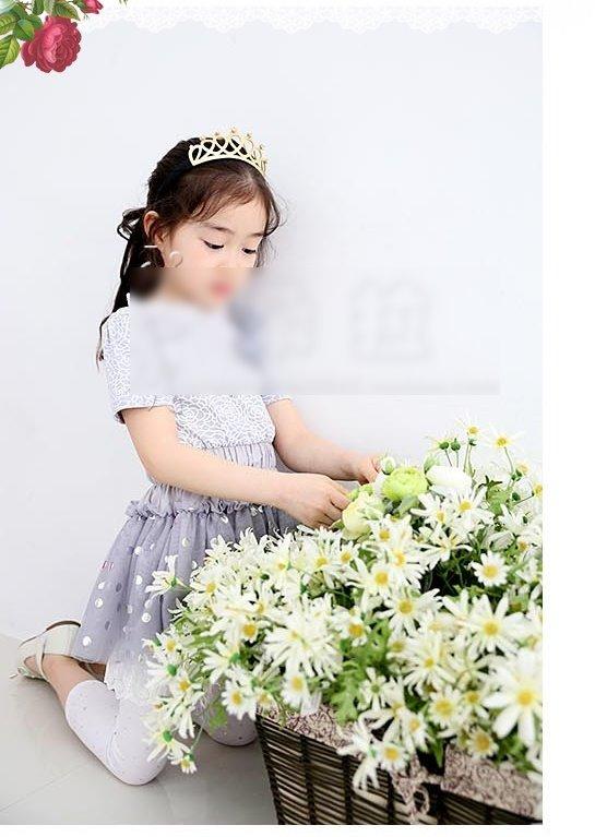 ☆傑媽童裝☆亮晶晶金粉皮質皇冠亮鑽公主髮箍【F17】