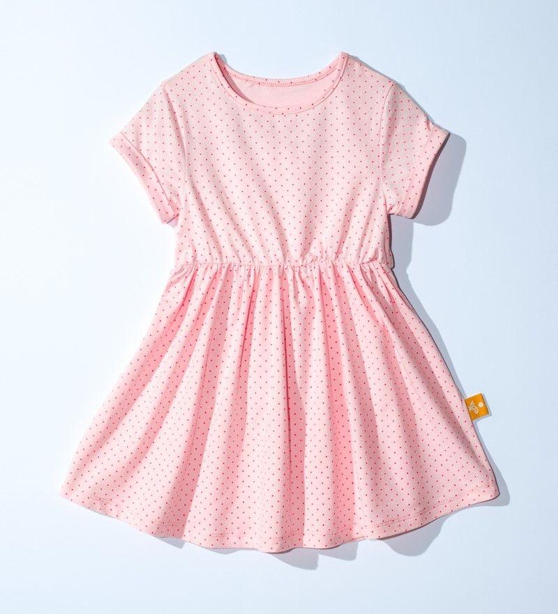 ☆傑媽童裝☆LBB純棉中大童舒適洋裝~粉底點點【40894-1】