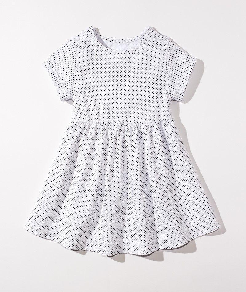 ☆傑媽童裝☆LBB純棉中大童舒適洋裝~黑點點【40894-8】
