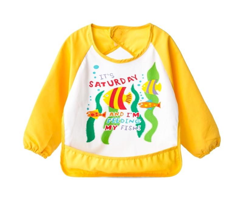 ☆傑媽童裝☆LBB寶寶卡通有袖防水吃飯衣/反穿衣/畫畫衣(02款)【B08-2】