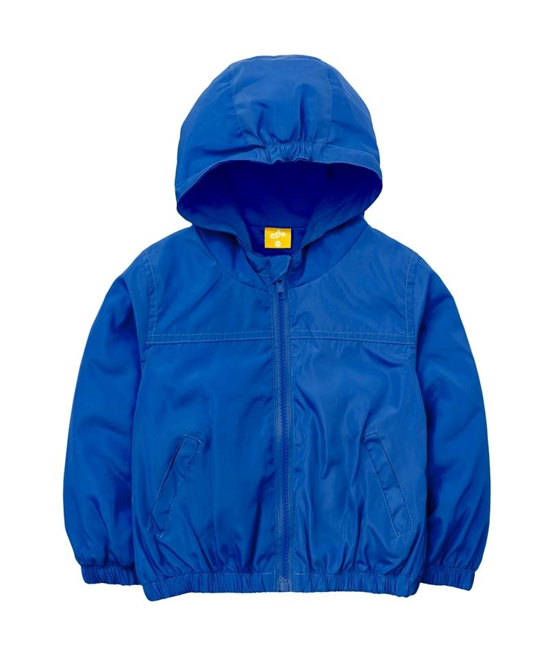 ☆傑媽童裝☆防水防風糖果色有帽外套-寶藍色【84981-3】