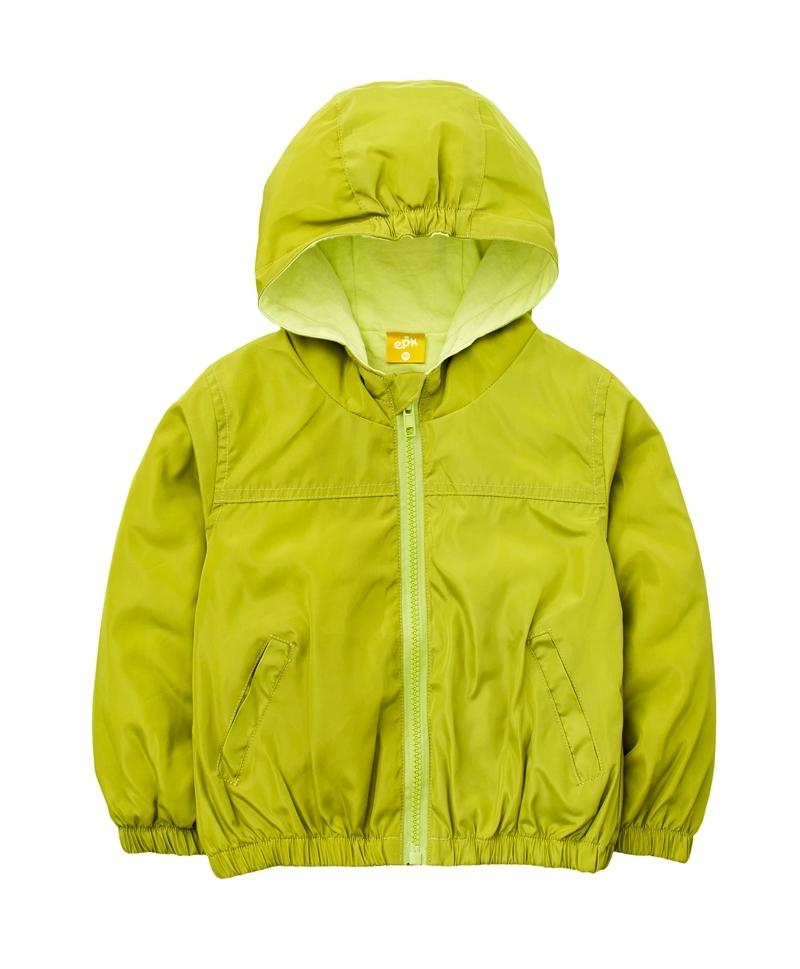 ☆傑媽童裝☆防水防風糖果色有帽外套-黃綠色【84981-4】
