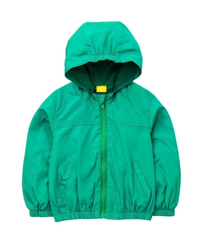 ☆傑媽童裝☆防水防風糖果色有帽外套-深綠色【84981-5】