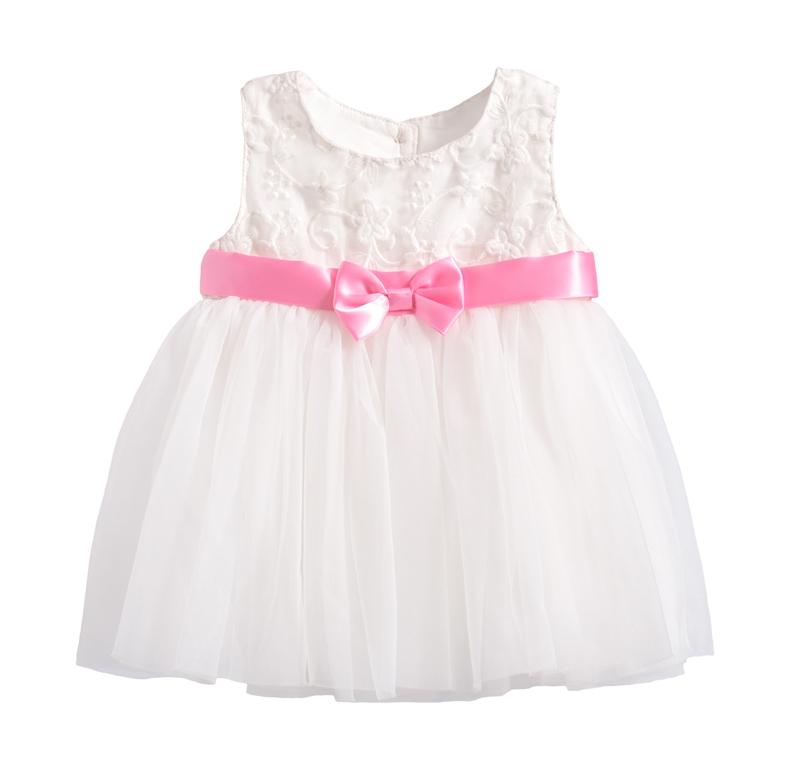 ☆傑媽童裝☆小童背心式繡花款禮服洋裝-白色【20056-1】