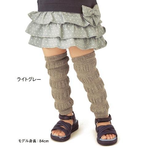 ☆傑媽童裝☆棉質灰綠色泡泡款長襪套/保暖/學爬必備【A46】
