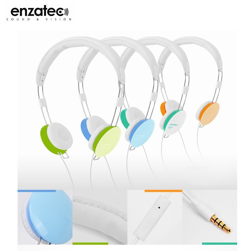 Enzatec HS306WH 耳罩式耳機/麥克風/聽音樂/頭戴式/可調式/馬卡龍色彩/iPhone 6/6 Plus/5S/5C/iPad Air/Air2/Mini/2/3/4/iPod/華為 HUAWEI P8/Ascend P7/G700/G740/榮耀 3C/6/LG G2 mini/G2/G Pro Lite/G Pro 2/G3/AKA/G Flex2/G4