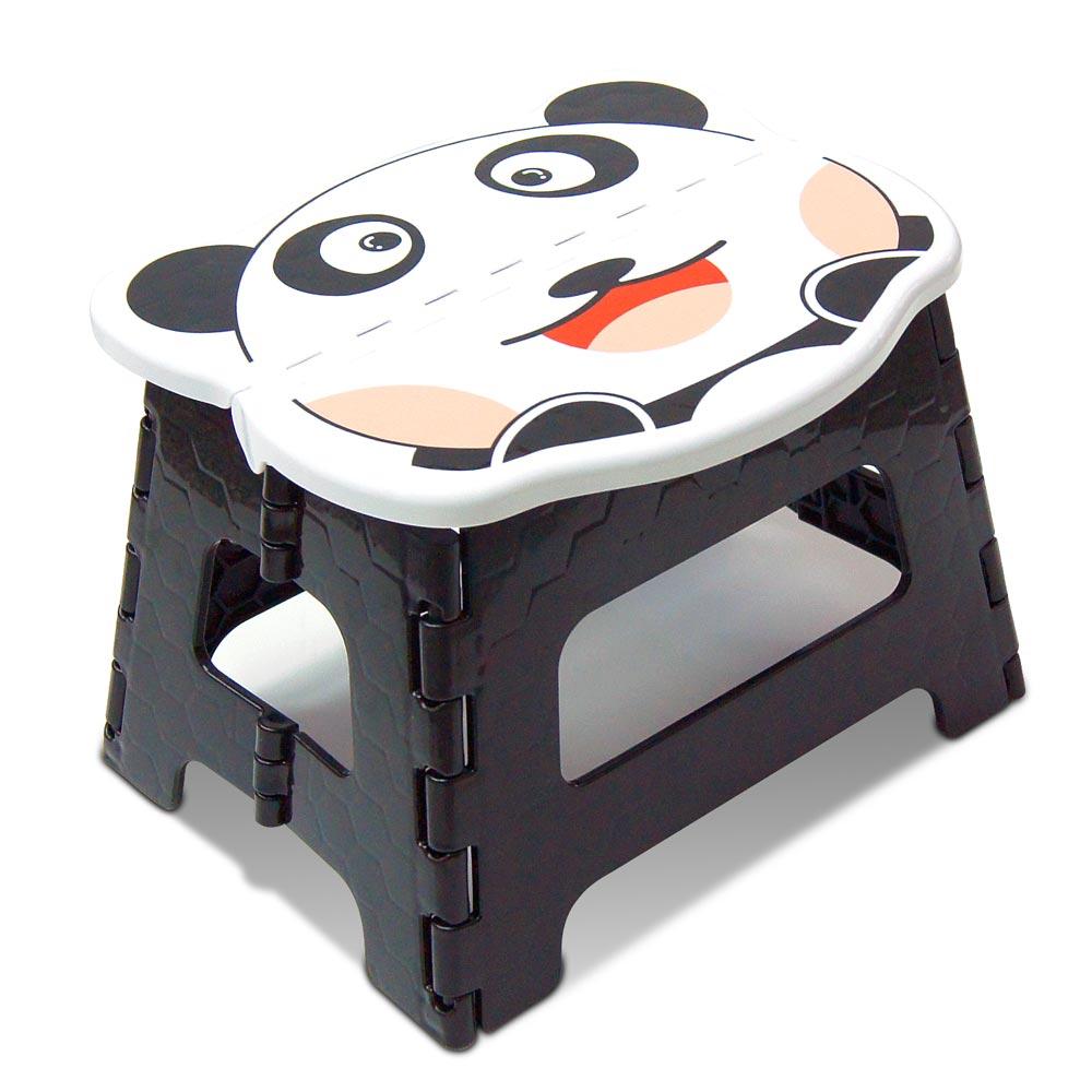 WallyFun 可愛動物摺疊收納椅/小板凳 (元氣熊款)