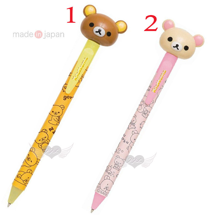 日本製拉拉熊懶懶熊懶妹造型原子筆 2選1 13646833*JJL*