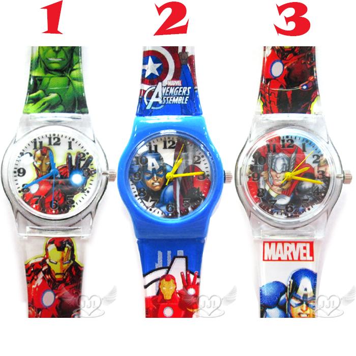 台灣製鋼鐵人美國隊長雷神索爾兒童錶手錶卡通錶 3選1  24746122*JJL*