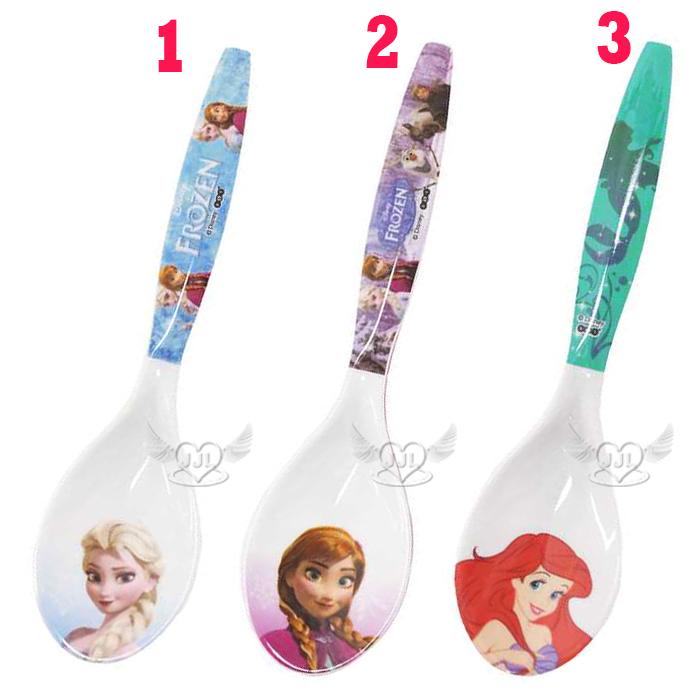 冰雪奇緣艾莎安娜迪士尼公主小美人魚美耐皿湯匙 3選1  72383626*JJL*