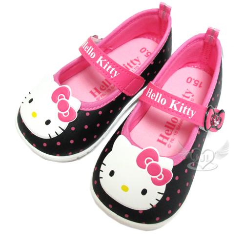 台灣製HELLO KITTY兒童鞋子娃娃鞋休閒鞋黑桃12.5~15cm 6選1  95711530*JJL*