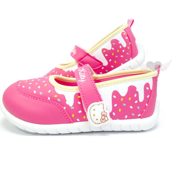 台灣製HELLO KITTY兒童鞋子娃娃鞋休閒鞋桃紅13~18cm 6選1 95711730*JJL*
