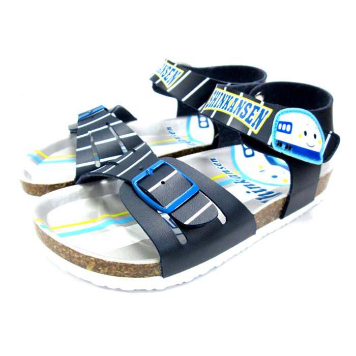 台灣製新幹線兒童涼鞋軟木鞋深藍13~19cm 7選1 95711830*JJL*