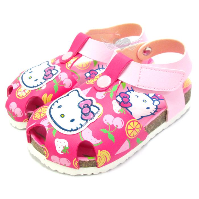 台灣製HELLO KITTY兒童涼鞋護趾涼鞋軟木鞋桃紅色13~17cm 5選1 95711880*JJL*