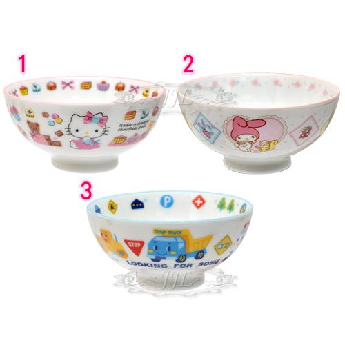 *JJL*HELLO KITTY美樂蒂工程車陶瓷碗 3選1  10158999